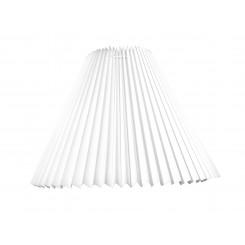 Alle str. lampeskærm plissé i hvid plastik A modeller