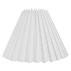 Alle str. lampeskærm plissé i hvid chintz A modeller