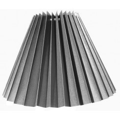 Alle str. lampeskærm plissé i sort chintz A modeller