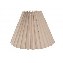 Alle str. lampeskærm plissé i sandfarvet bomuld A modeller