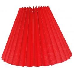 Alle str. lampeskærm plissé i rød bomuld A modeller