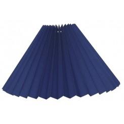 Alle str. Lampeskærme Plissé svøb kobolt blå bomuld.