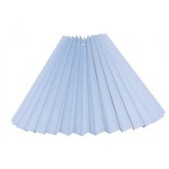 Alle str. Lampeskærme Plissé svøb is blå bomuld.