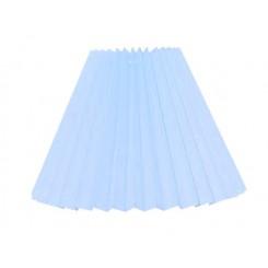 Alle str. lampeskærm plissé i is blå bomuld A modeller
