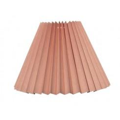Alle str. lampeskærm plissé i gammel rosa bomuld A modeller