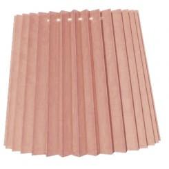 alle str. i Plissé Cylender model gammel rosa bomuld