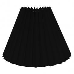Alle str. lampeskærm plissé i sort bomuld A modeller