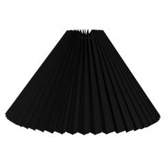 alle str. i Plissé lampeskærm sort bomuld