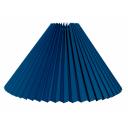 alle str. i Plissé lampeskærm kobolt blå bomuld