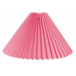 Alle str. Lampeskærme Plissé svøb pink bomuld.