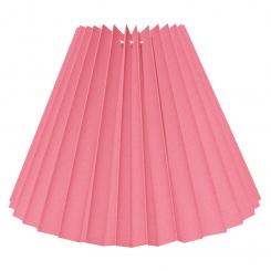 Alle str. lampeskærm plissé i pink bomuld A modeller