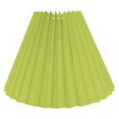 Alle str. lampeskærm plissé i Lime bomuld A modeller