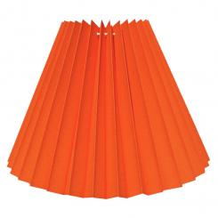 Alle str. lampeskærm plissé i orange bomuld A modeller