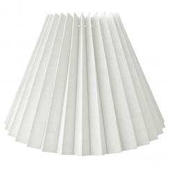 Alle str. lampeskærm plissé i hvid hør A modeller