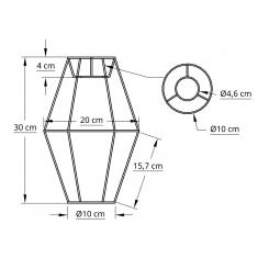 Satelit stativ 10x30x10 L-E27 hvid