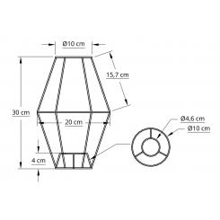 Satelit stativ 10x30x10 T-E27 hvid