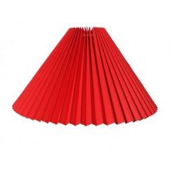 Alle str. Lampeskærme Plissé svøb Rød bomuld