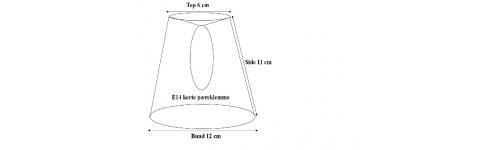 Lampeskærme til pæreklemme E14 kerte (aflang).