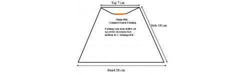Lampeskærme Top TNF-Stel stor fatning (2 delt)