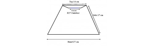 Lampeskærme i Top L-Stel E27 fatning med omløber ring