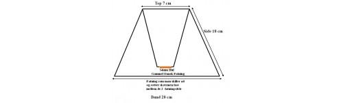 Lampeskærme i bund TNF-stel E27 fatning (2 delt)