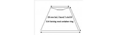 Lampeskærme i Top L-Stel E14 fatning med omløber ring (lille fatning)